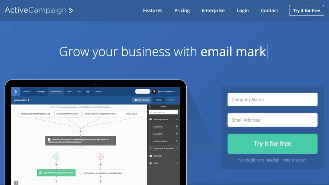 We use Active Campaign as our Email Marketing and Email Automation software.